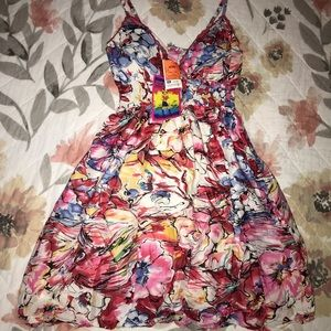 SOLD She's Cool  water color floral dress